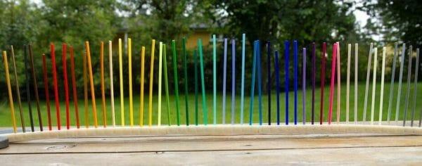 variedad de colores en filamento pla