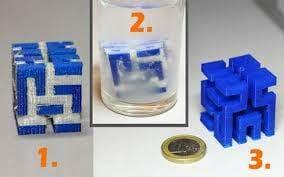 Retirar filamento de soporte con agua, sosa cáustica o Limoneno