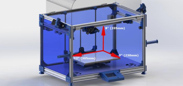 Volumen de Impresión 3D