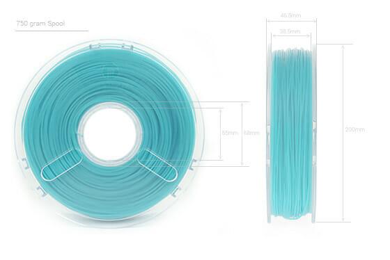 Dimensiones bobina Flex Polyflex de Polymaker
