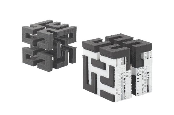 Modelo 3D de calibración impreso con Polysupport de PolyMaker.