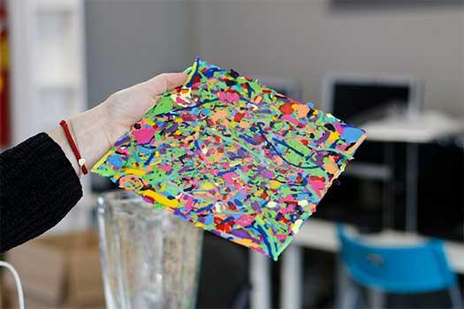 reciclaje de plásticos con impresión 3D-   Láminas Plastic Smoothie