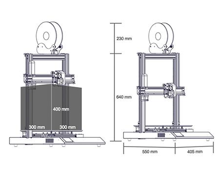 Artillery SideWinder X1 Volumen